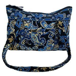 Vera Bradley Windsor Navy Zipper Tote Bag